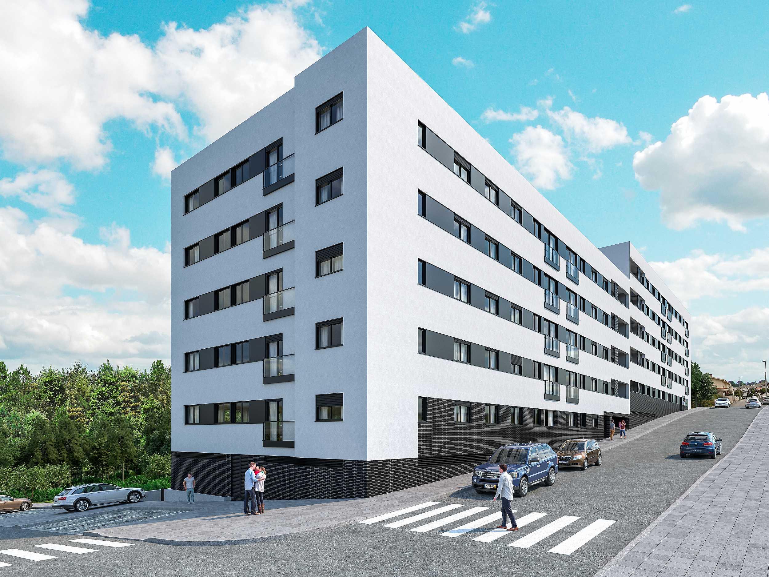 Edifício City Concept com apartamentos T2 e T3 em Ermesinde