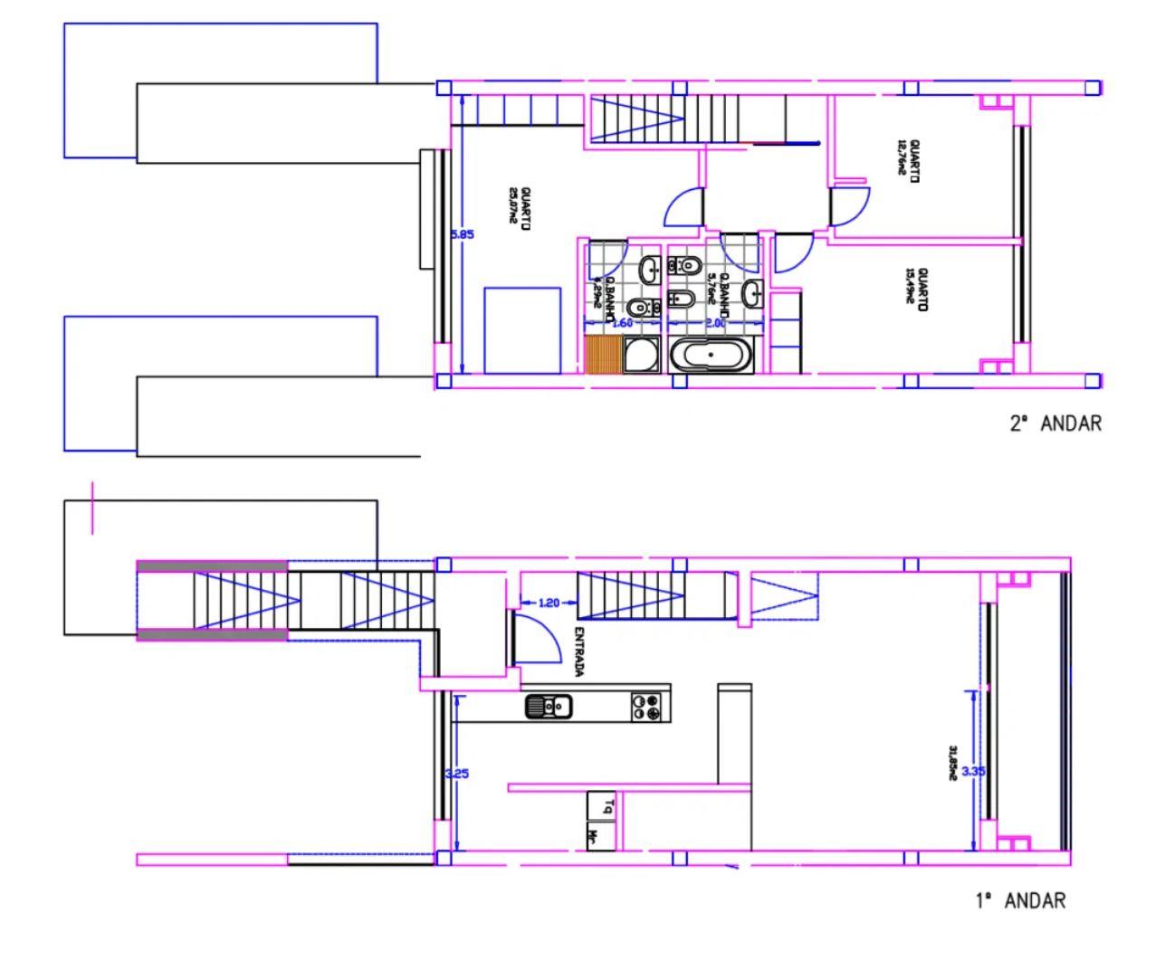 Planta 1º e 2º piso